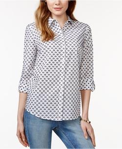 Charter Club - Dot-Print Shirt