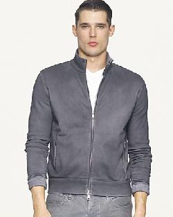 Ralph Lauren  - Black Label Full-Zip Coated Fleece Mockneck Jacket