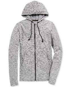 American Rag  - Textured Full-Zip Lightweight Hoodie