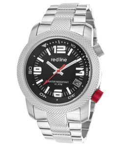 Red Line - Octane Silver-Tone Steel Black Dial