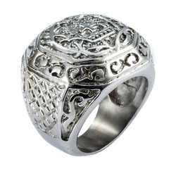 Trendsmax - Signet Stainless Steel Ring