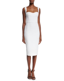 Victoria Beckham - Sleeveless Sweetheart-Neck Dress