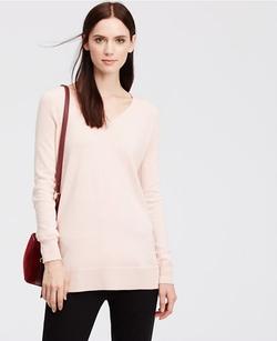 Ann Taylor - V-Neck Tunic Sweater