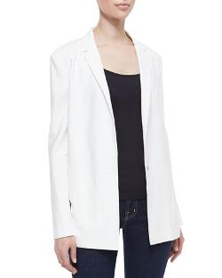 J Brand Ready to Wear   - Sharman Sheer-Back Long Blazer