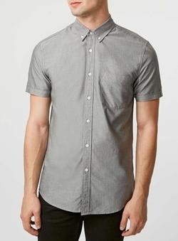 Topman - Oxford Short Sleeve Casual Shirt
