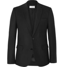 Maison Margiela - Black Slim-Fit Wool-Flannel Blazer