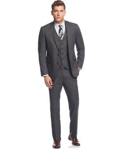 Kenneth Cole Reaction  - Tonal Shadow Check Slim-Fit Suit