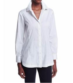 Misook - Long-Sleeve Button-Front Shirt