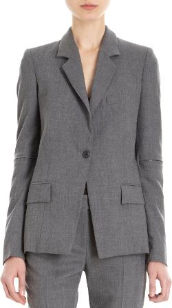 ALEXANDRE PLOKHOV - One-Button Zip Sleeve Blazer