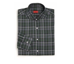 Isaia - Slim-Fit Winter Madras Plaid Dress Shirt
