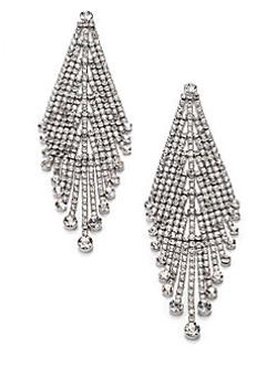 ABS by Allen Schwartz Jewelry  - Draped Rhinestone Earrings