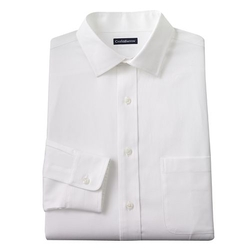 Croft & Barrow - Fitted Solid Spread-Collar Dress Shirt