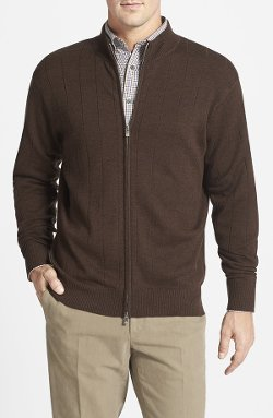 Peter Millar  - Merino Wool Zip Sweater