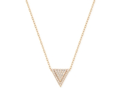 Swarovski  - Rose Gold-Tone Pavé Triangle Pendant Necklace