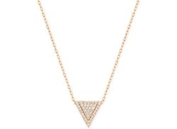 Swarovski  - Rose Gold-Tone Pavé Triangle Pendant Necklace
