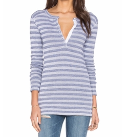 Stateside - Army Stripe Thermal Henley Top