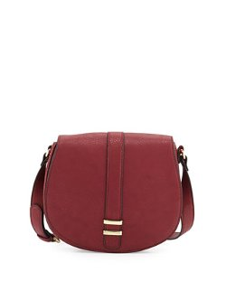 Neiman Marcus - Faux-Leather Saddle Bag