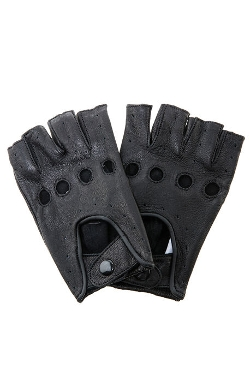 Profound Aesthetic - Leather Cut-Off Driving Gloves