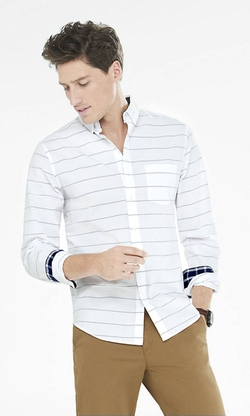 Express - Soft Wash Striped Shirt