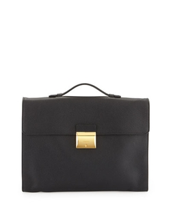 Tom Ford  - Leather Briefcase with Gold Buckle
