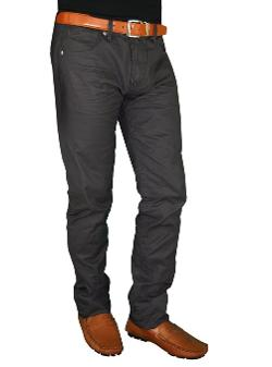 Darya Trading - English Laundry Hayden Arrogant Jeans Mens Fashion Wax-Coated Denim Charcoal