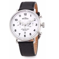 Shinola - Canfield Chronograph Leather Strap Watch