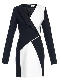 Mugler - Monochrome Crepe Mini Dress