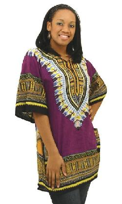 African Inspired Fashions - Traditional Print Unisex Dashiki Top