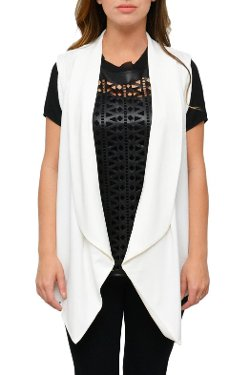 Simply Chic - White Jacket Vest