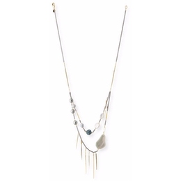 Alexis Bittar - Pearly Pavé Spike Strand Necklace