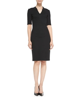 St. John Collection - Milano Pique Knit Dress
