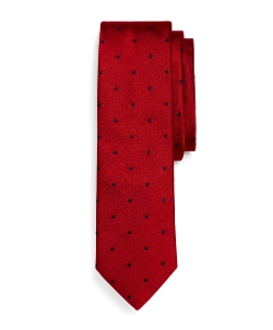 Brooks Brothers - Woven Dot Slim Tie