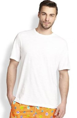 Saks Fifth Avenue Collection  - Slub Crewneck Tee