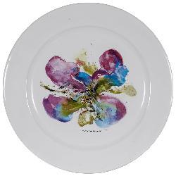 "Galerie Charraudeau - 1986 Zao Wou Ki Printed Plate, ""Orchidée"""