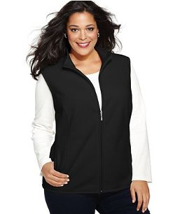 Karen Scott  - Plus Size Fleece Vest