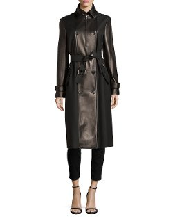 Michael Kors	 - Leather Combo Trenchcoat