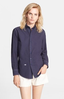 Band of Outsiders  - Contrast Stitch Boyfriend Oxford Shirt