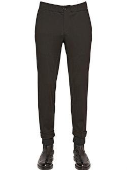 Emporio Armani  - Stretch Techno & Wool Trousers