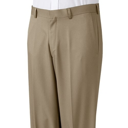 Haggar - Texture-Striped Flat-Front Dress Pants