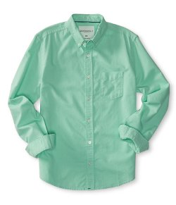 Aeropostale - Long Sleeve Solid Oxford Woven Shirt