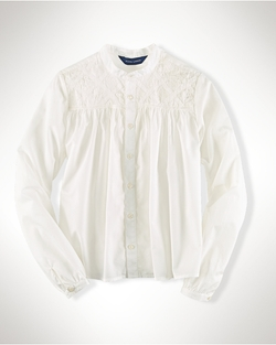 Ralph Lauren - Embroidered Cotton Blouse