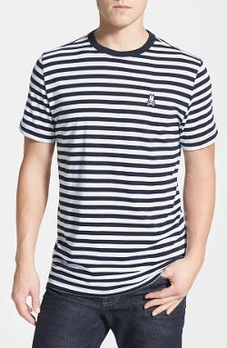 Psycho Bunny  - Stripe Crewneck T-Shirt