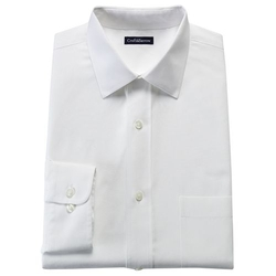 Croft & Barrow - Fitted Solid No Iron Spread Collar Dress Shirt
