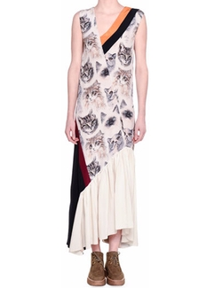Stella McCartney - Cat-Print Sleeveless Maxi Dress