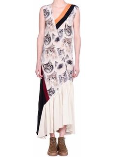 Stella McCartney - Cat-Print Sleeveless Maxi Dress