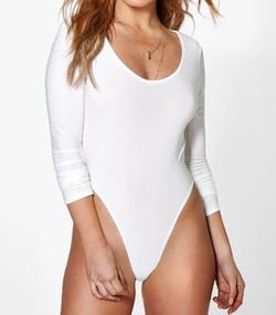 Boohoo Petite - Amanda High Leg Long Sleeve Bodysuit