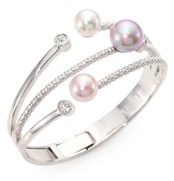 Majorica - Multicolor Pearl Bangle Bracelet
