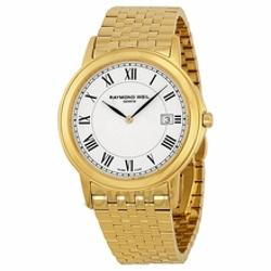 Raymond Weil  - Tradition White Dial Yellow Gold PVD Stainless Steel Mens Watch