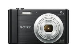 Sony  - W800/B 20 MP Digital Camera