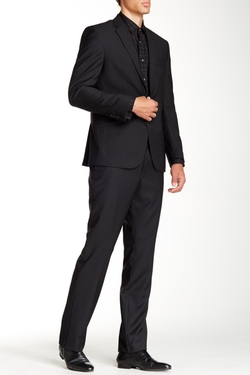 Kenneth Cole New York - Stripe Two Button Wool Suit